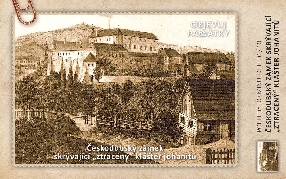 """Českodubský zámek skrývající """"ztracený"""" klášter johanitů"""