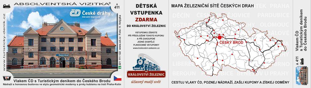 Vlakem ČD s Turistickým deníkem do Českého Brodu
