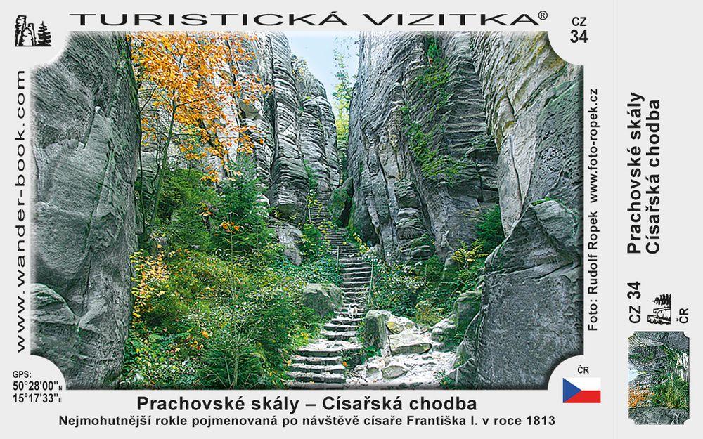 Císařská chodba v Prachov. skalách