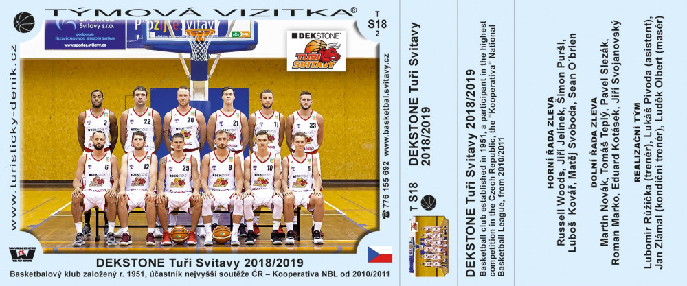 DEKSTONE Tuři Svitavy 2018/2019