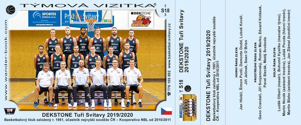 DEKSTONE Tuři Svitavy 2019/2020