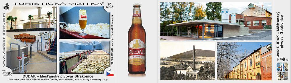 DUDÁK – Měšťanský pivovar Strakonice