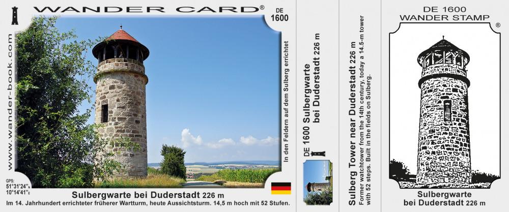 Sulbergwarte bei Duderstadt