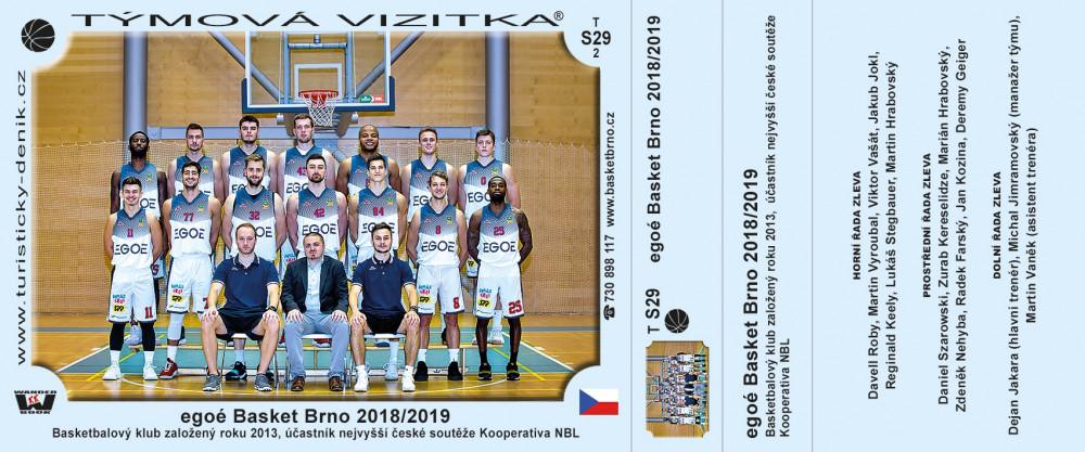 egoé Basket Brno 2018/2019