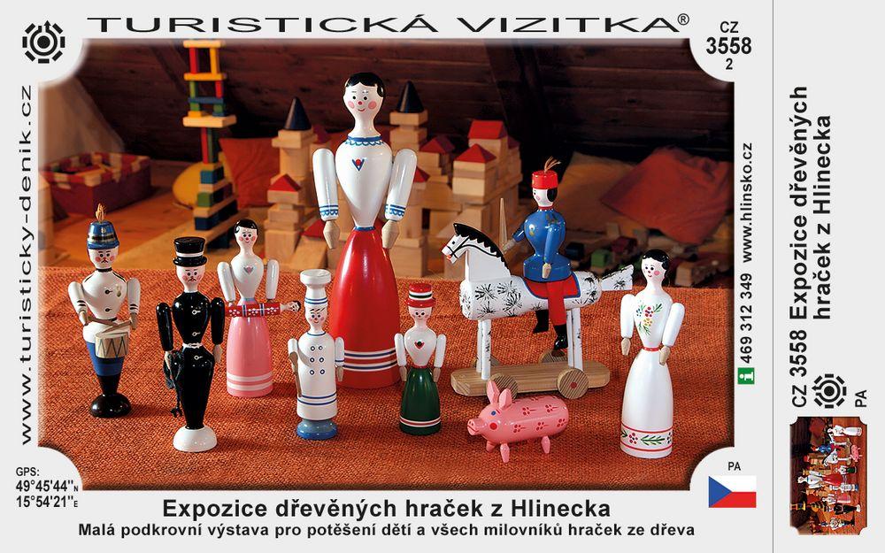 Expozice dřevěných hraček z Hlinecka