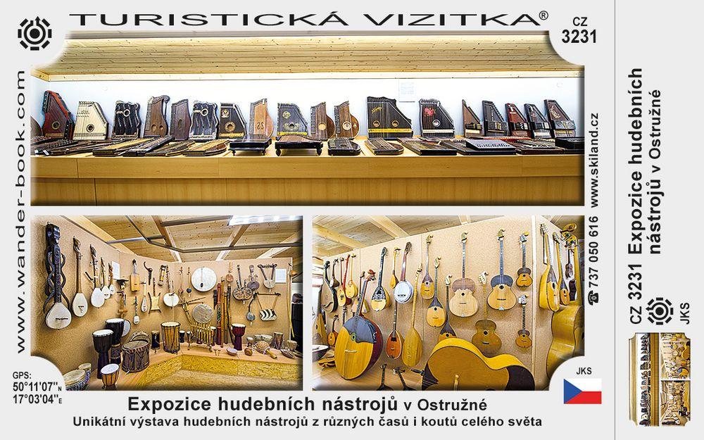 Expozice hudebních nástrojů v Ostružné