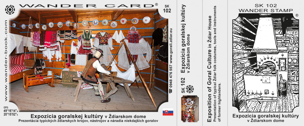 Expozícia goralskej kultúry v Ždiarskom dome