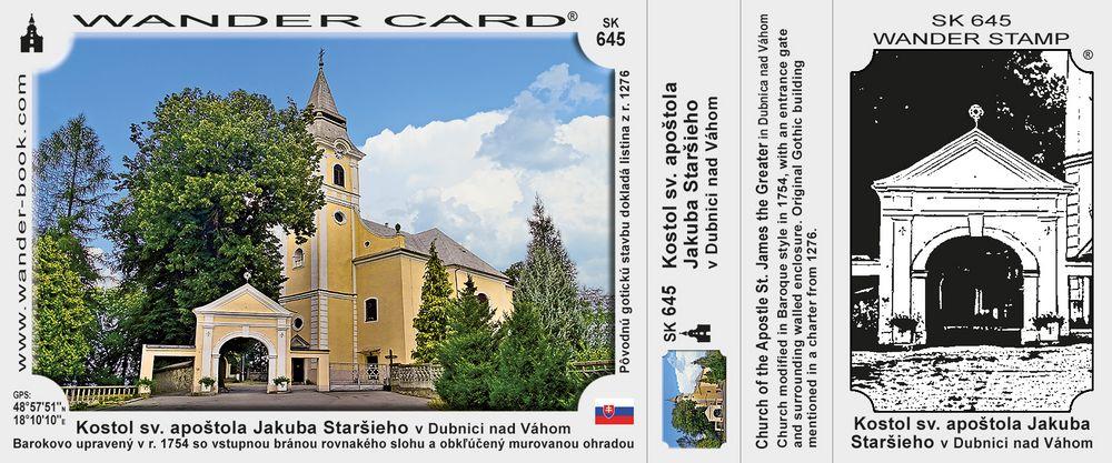 Farský kostol sv. apoštola Jakuba Staršieho v Dubnici nad Váhom