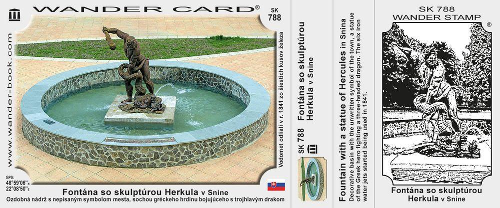 Fontána so skulptúrou Herkula v Snine