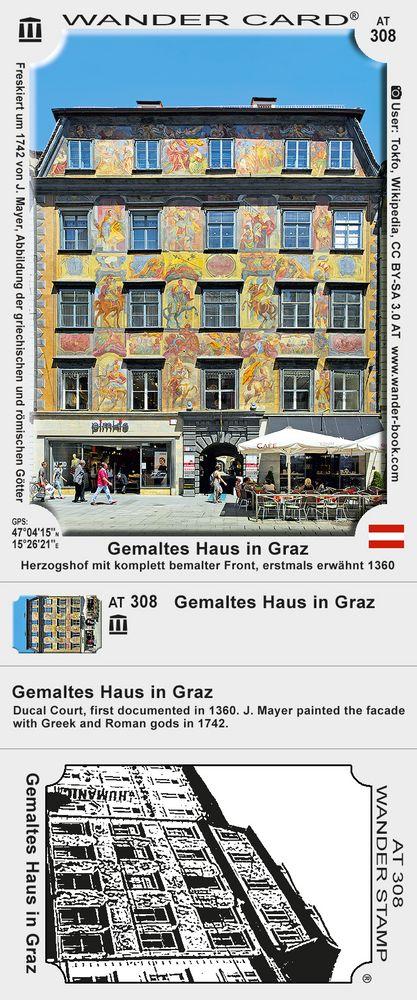 Gemaltes Haus in Graz