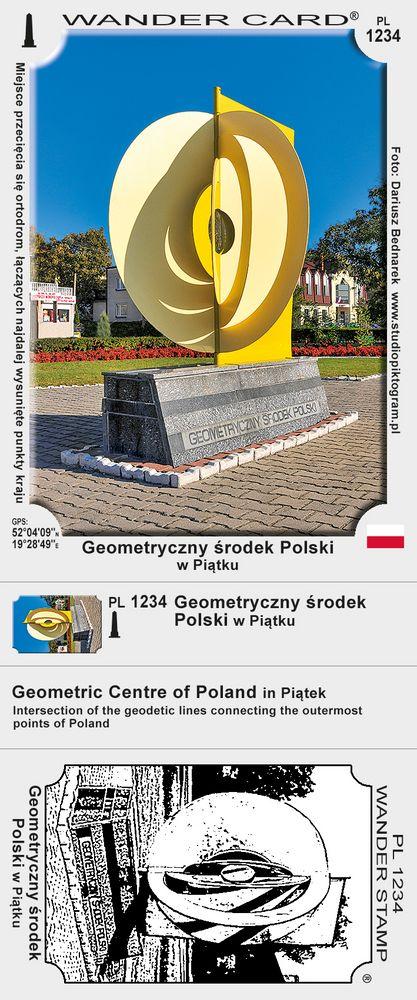 Geometryczny środek Polski w Piątku