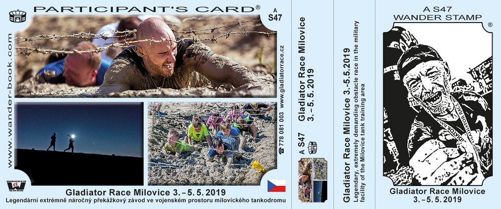 Gladiator race Milovice 3.-5.5. 2019
