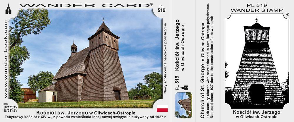Gliwice Ostropie kościół drewniany