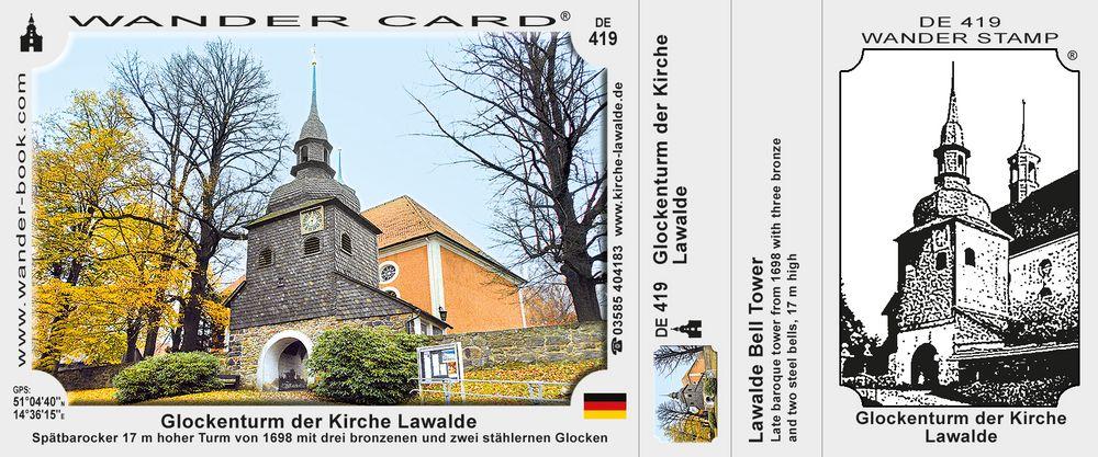 Glockenturm der Kirche Lawalde