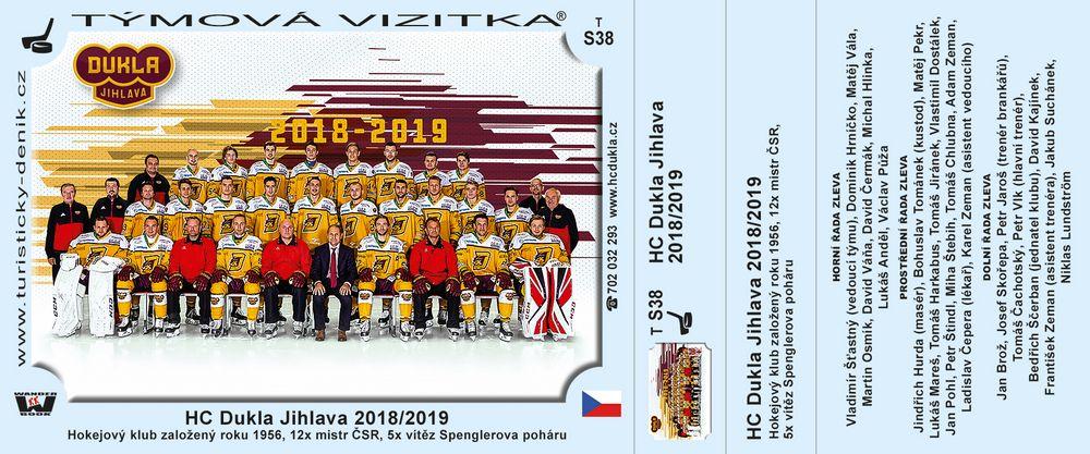 HC Dukla Jihlava 2018/2019