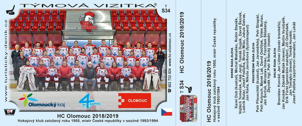 HC Olomouc 2018/2019