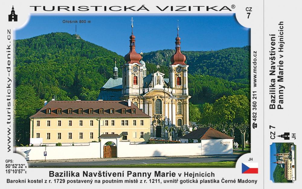 Hejnice Bazilika Navštívení P Marie