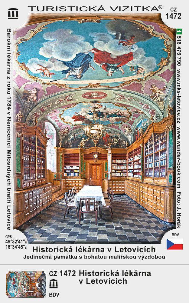 Historická lékárna v Letovicích