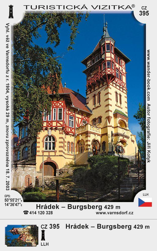 Hrádek - Burgsberg ve Varnsdorfu