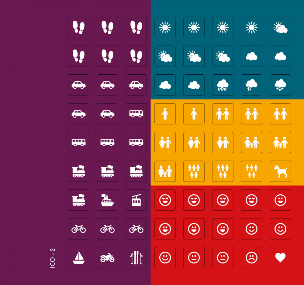 Ikonky univerzální (barevné pozadí)