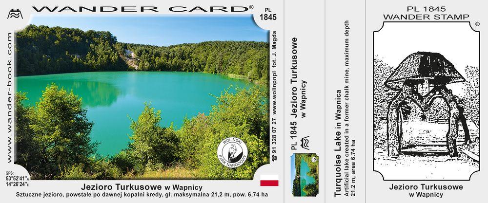 Jezioro Turkusowe WPN w Wapnicy