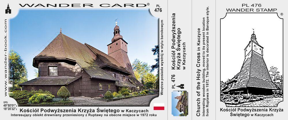 Kaczyce kościół drewniany