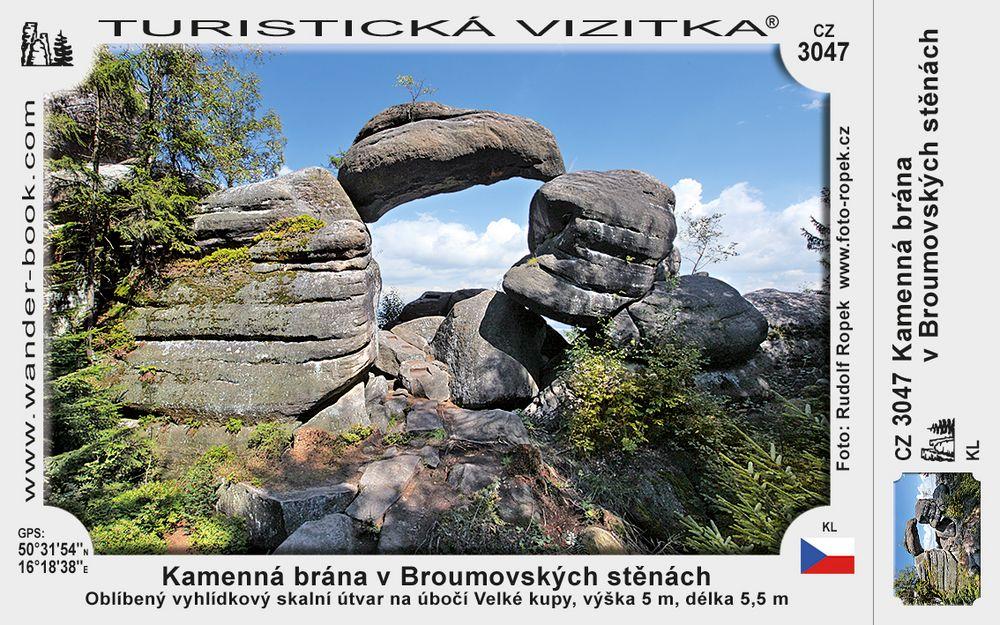 Kamenná brána v Broumovských skalách