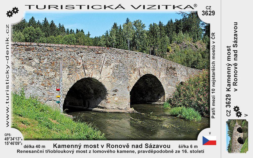 Kamenný most v Ronově nad Sázavou