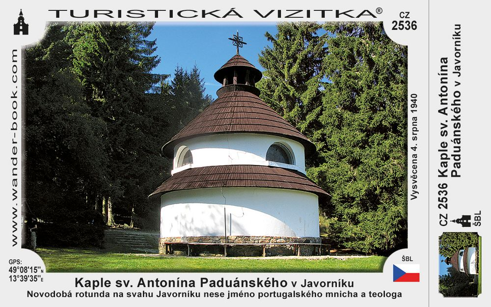 Kaple sv. Ant. Paduánského v Javorníku
