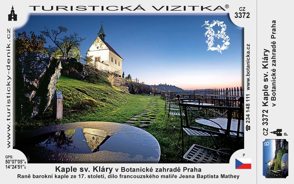 Kaple sv. Kláry v Botanické zahr. Praha