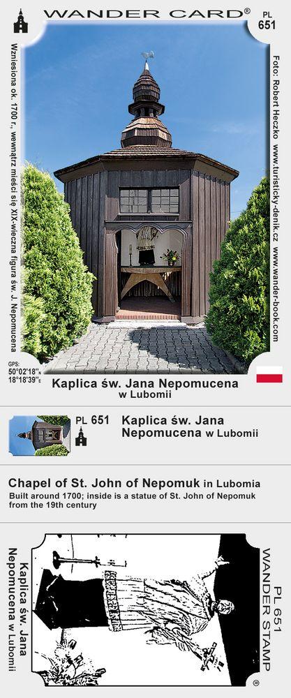 Kaplica św. Jana Nepomucena w Lubomii