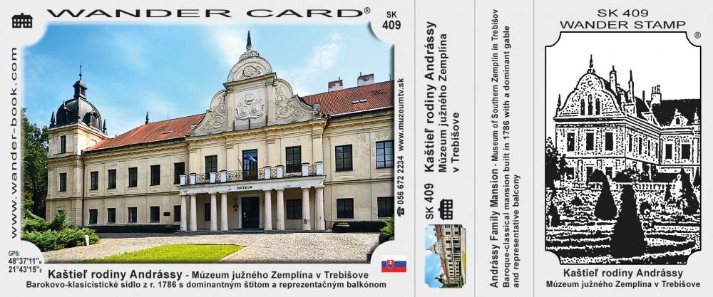 Kaštieľ rodiny Andrássy - Múzeum južného Zemplína v Trebišove
