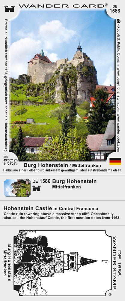 Kirchensittenbach Hohenstein Burg