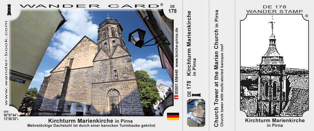 Kirchturm Marienkirche in Pirna