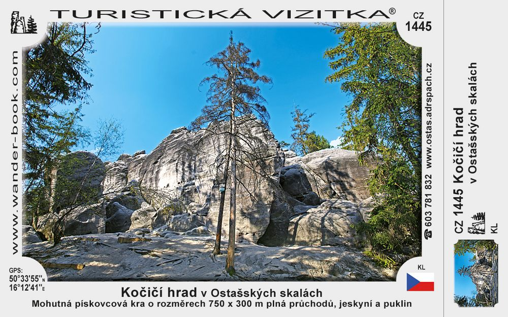 Kočičí hrad v Ostašských skalách