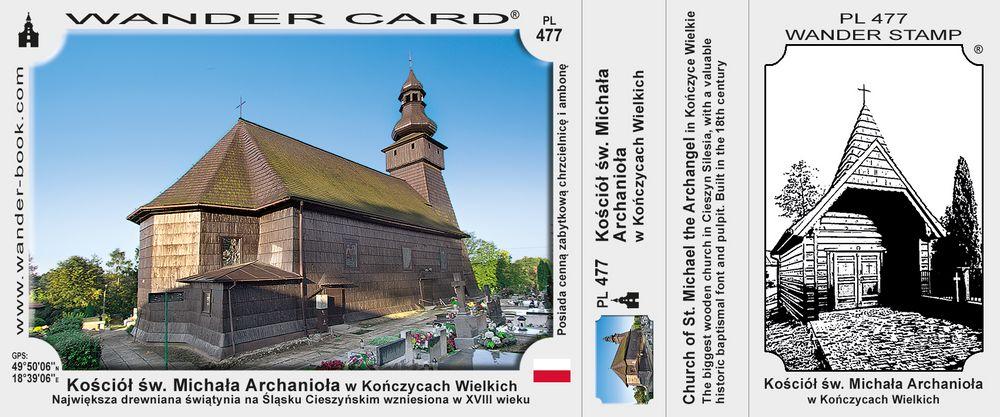 Kończyce Wlk kościół drewniany