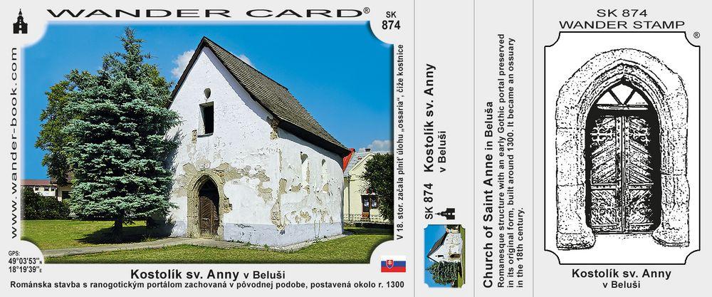 Kostolík sv. Anny v Beluši