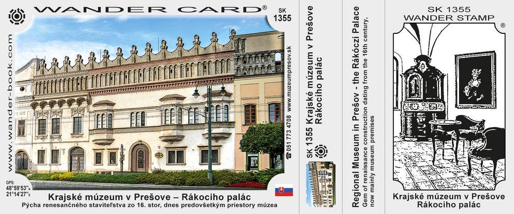 Krajské múzeum v Prešove – Rákociho palác