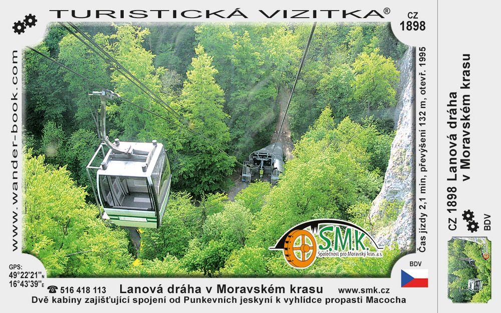 Lanová dráha v Moravské krasu