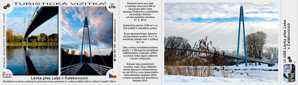 Lávka přes Labe v Čelákovicích