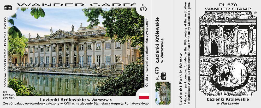 Łazienki Królewskie w Warszawie