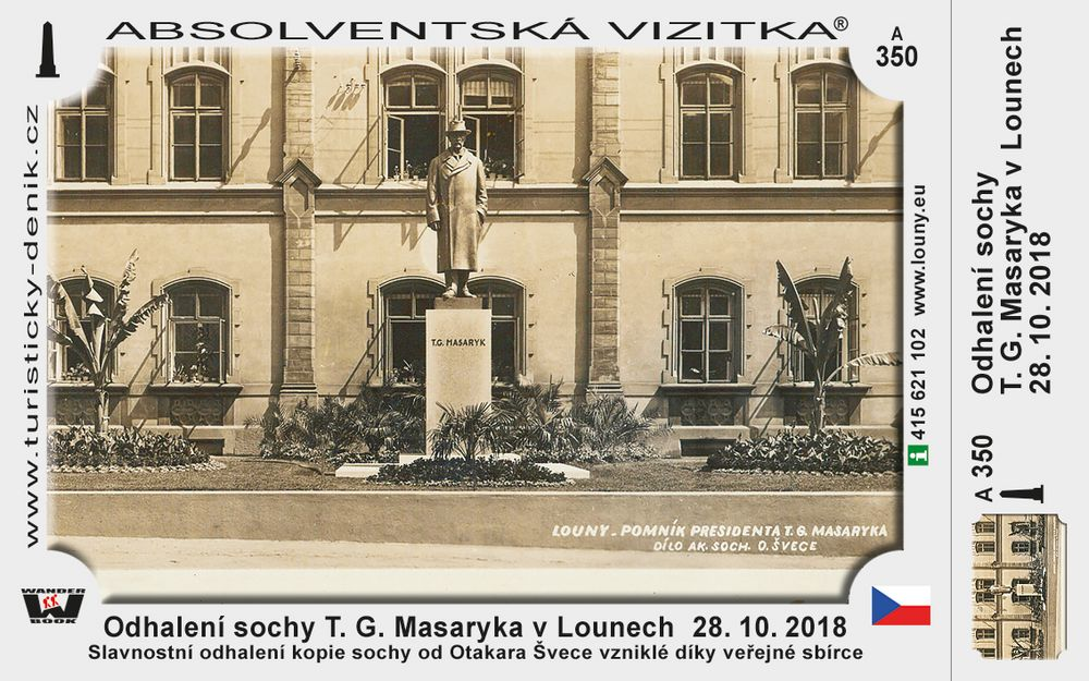 Louny odhalení sochy TGM 2018