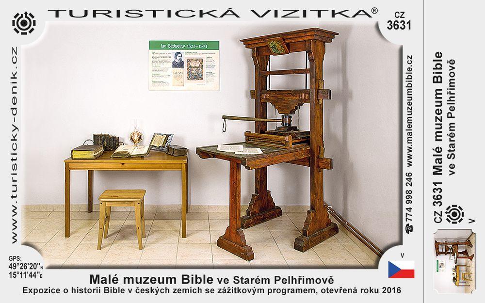 Malé muzeum Bible ve Starém Pelhřimově