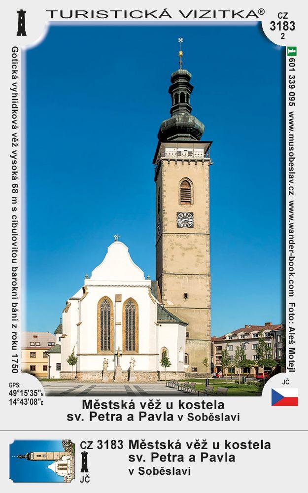 Městská věž u kostela sv. Petra a Pavla v Soběslavi