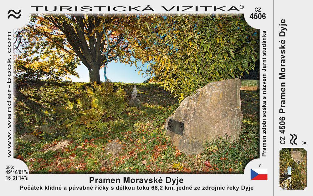 Moravská Dyje pramen