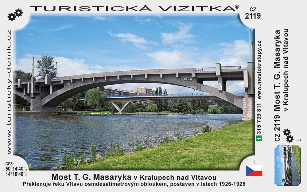 Most T. G. M.  v Kralupech nad Vltavou