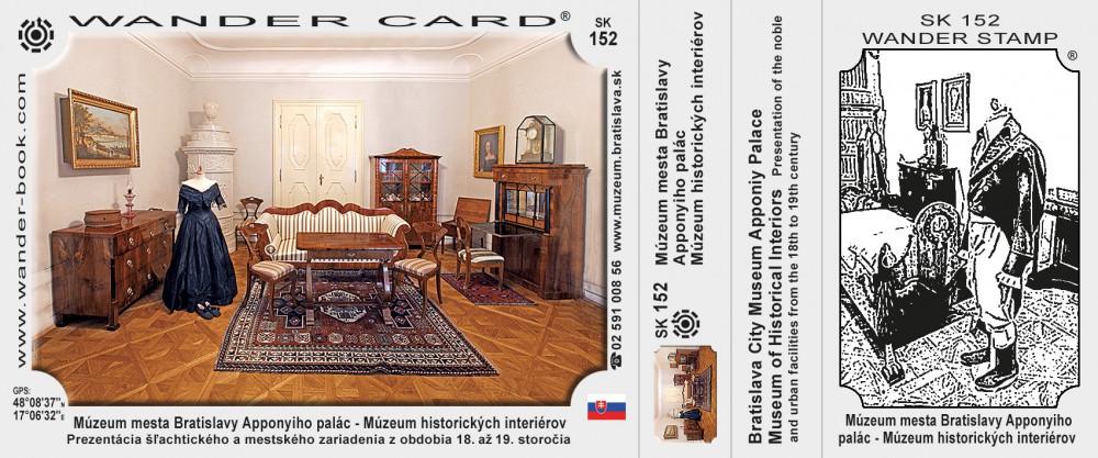 Múzeum mesta Bratislavy Apponyiho palác - Múzeum historických interiérov