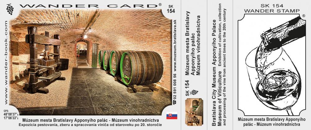 Múzeum mesta Bratislavy Apponyiho palác – Múzeum vinohradníctva