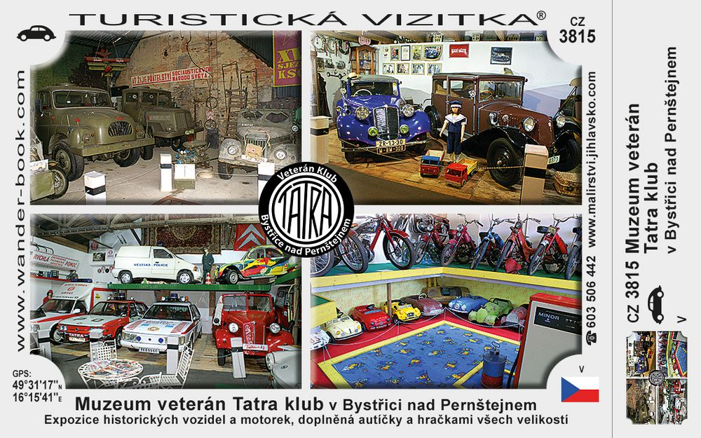 Muzeum veterán Tatra klub v Bystřici nad Perštejnem