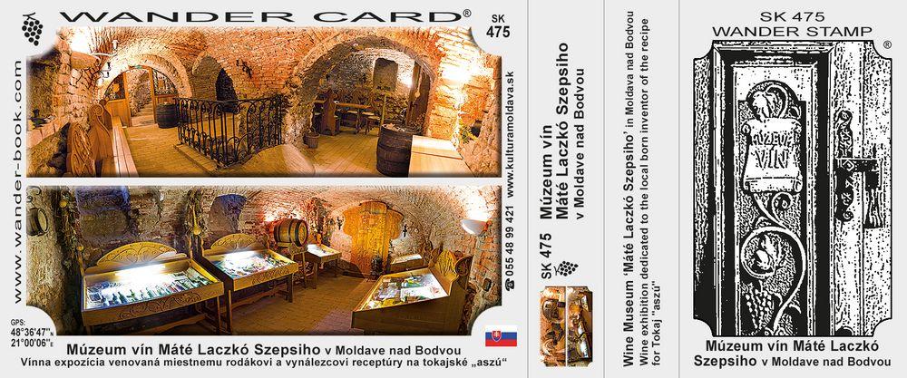 Múzeum vín Máté Laczkó Szepsiho v Moldave nad Bodvou